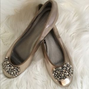 Lovely Bejeweled Pewter Flats
